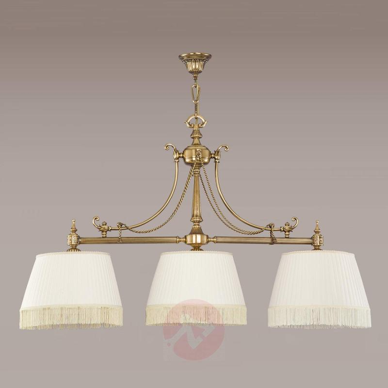 3-bulb fabric pendant light Sopia - design-hotel-lighting