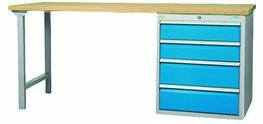 modular workbench with drawer cabinet with 4 drawers,... - 03.20.780.4VA