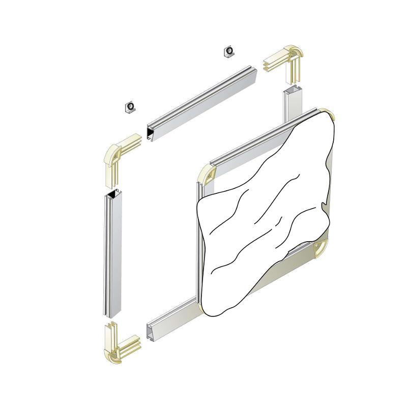 Écran de projection sur cadre aluminium - Aluvision