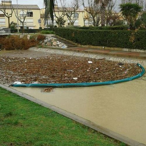 Barrage pour déchets de type bois flottants - Barrage anti-pollution et barrage filtrant
