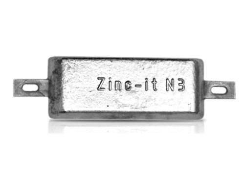 Ânodo de zinco para protecção catódica - Ânodos de casco N3