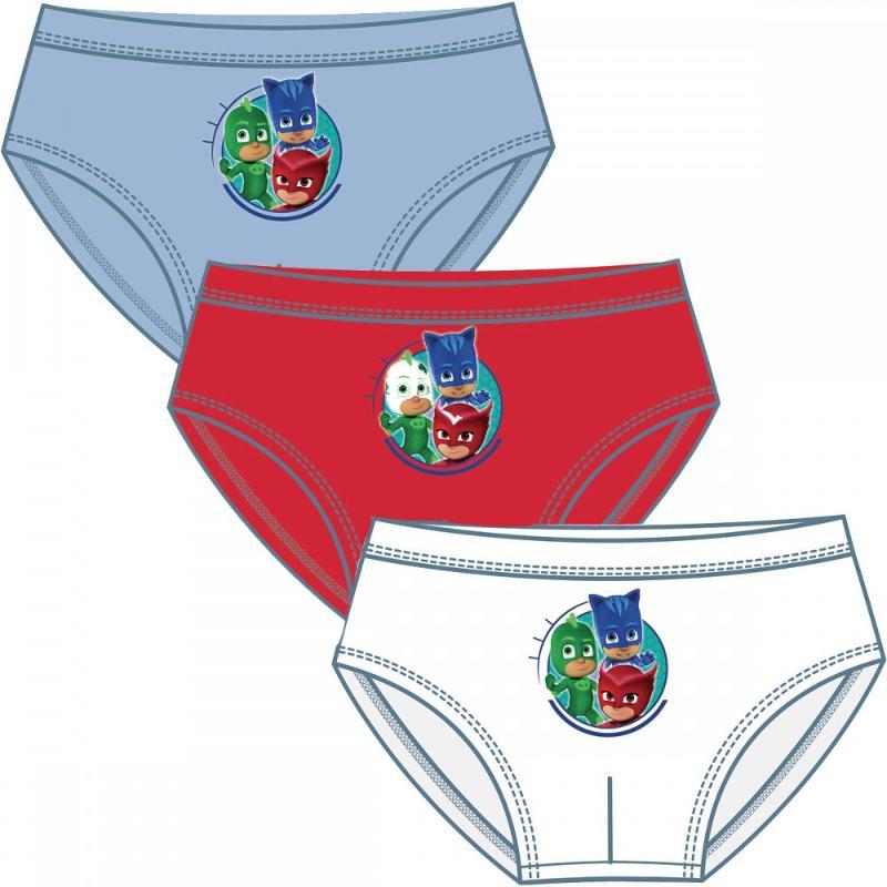 36x Lots de 3 culottes PJ Masks du 2 au 6 ans - Sous-vêtement