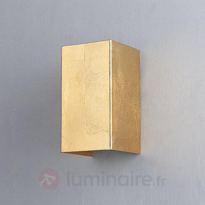 Applique Tabita en métal doré, à 2 lampes - Appliques en laiton/dorées