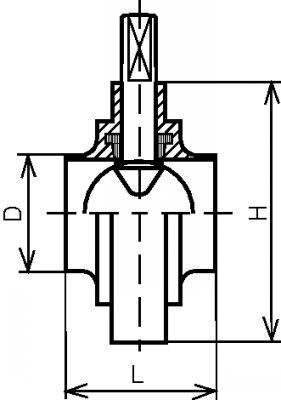 VANNE PAPILLON SGRM BOUTS LISSES COURTS - JOINT EPDM INOX 304 L - 316L (61310)