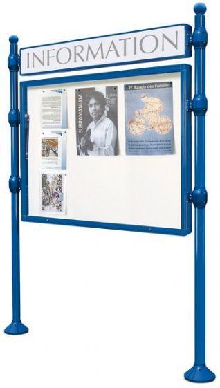 Panneaux vitrines d'information ht 1.20 x 1.60 cm - Affichage - Exposition