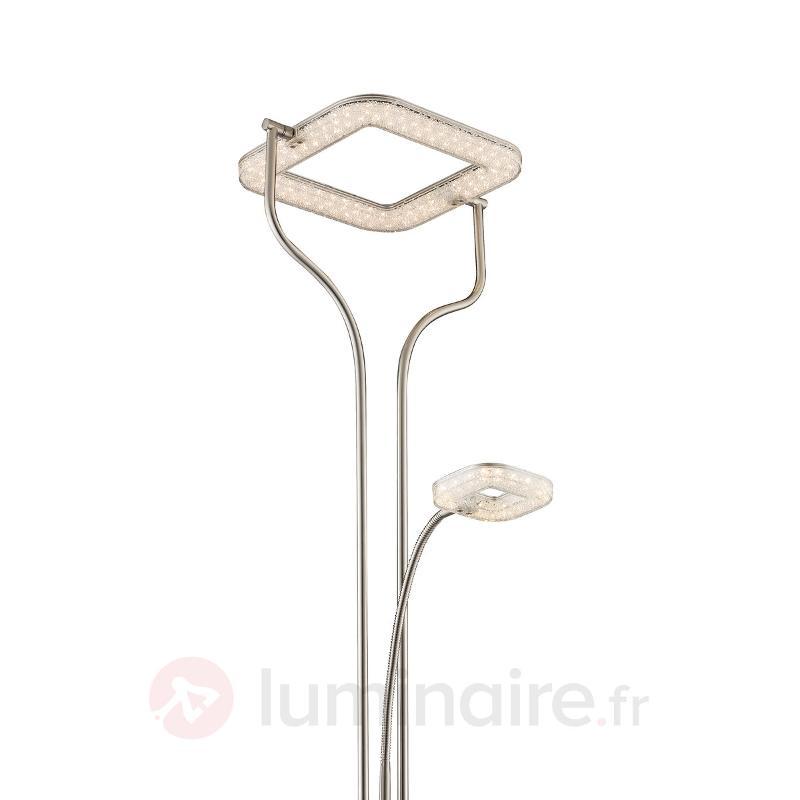 Lampadaire LED indirect Varai, abat-jour carré - Lampadaires LED à éclairage indirect