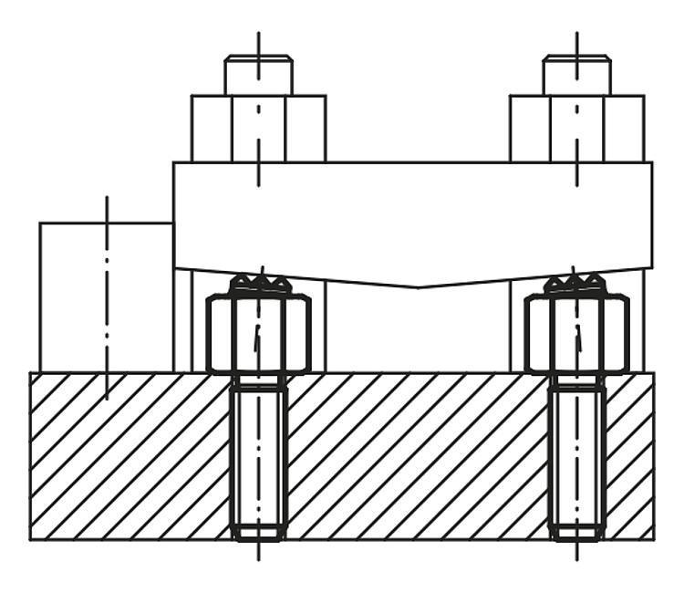 Support réglable à bille oscillante avec joint torique... - Éléments d'appui et de support