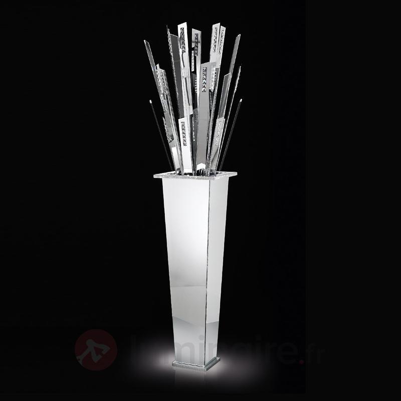 Imposant lampadaire LED SKYLINE chromé - Lampadaires LED