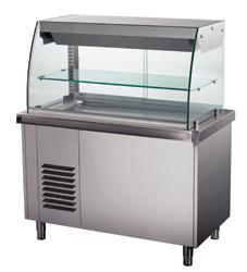 Self Service counters and Service trolleys - HEATED DISPLAY ON HOT TOP/NEUTRAL CUPBOARD 1600