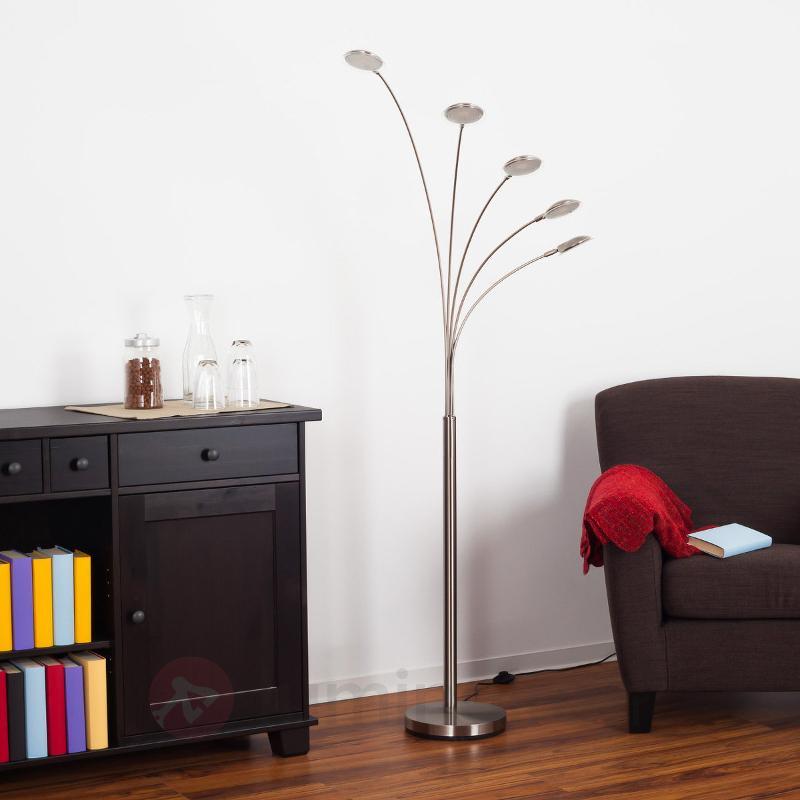 Lampadaire LED arqué Sirina à 5 lampes - Lampadaires LED