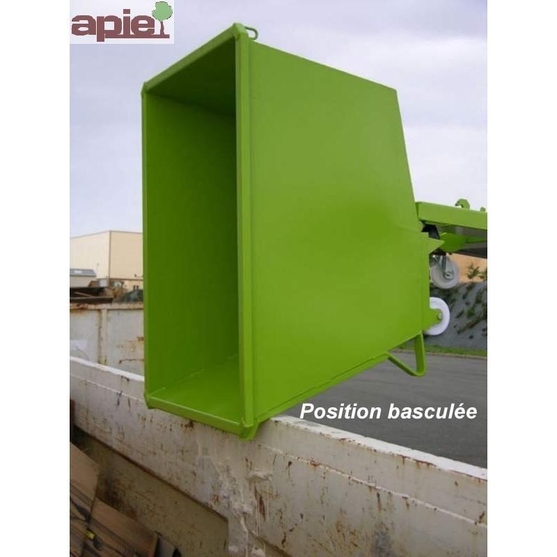Benne basculante à hauteur réduite - modèle sur socle - Référence : GOP04000