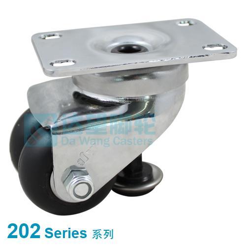 Twin Wheel Castor, Neoprene Rubber Wheel