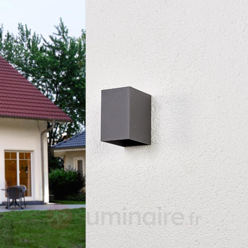 Applique murale extérieure LED Mikka gris foncé - Appliques d'extérieur LED