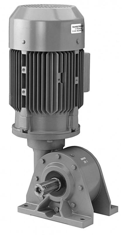 SN10SV - Single-stage gear drive with solid shaft