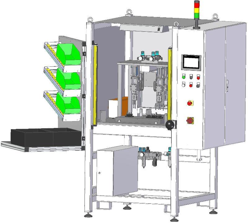 Ultrasonic machine with material feeding system - Ultrasonic welding machines