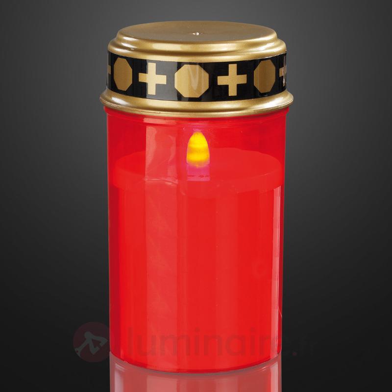 Lampe tombale LED rouge - Bougies LED