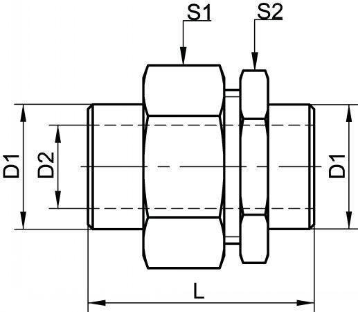 RACCORDS UNION À PORTÉE CONIQUE - LISSE / LISSE INOX 316 L (5111)
