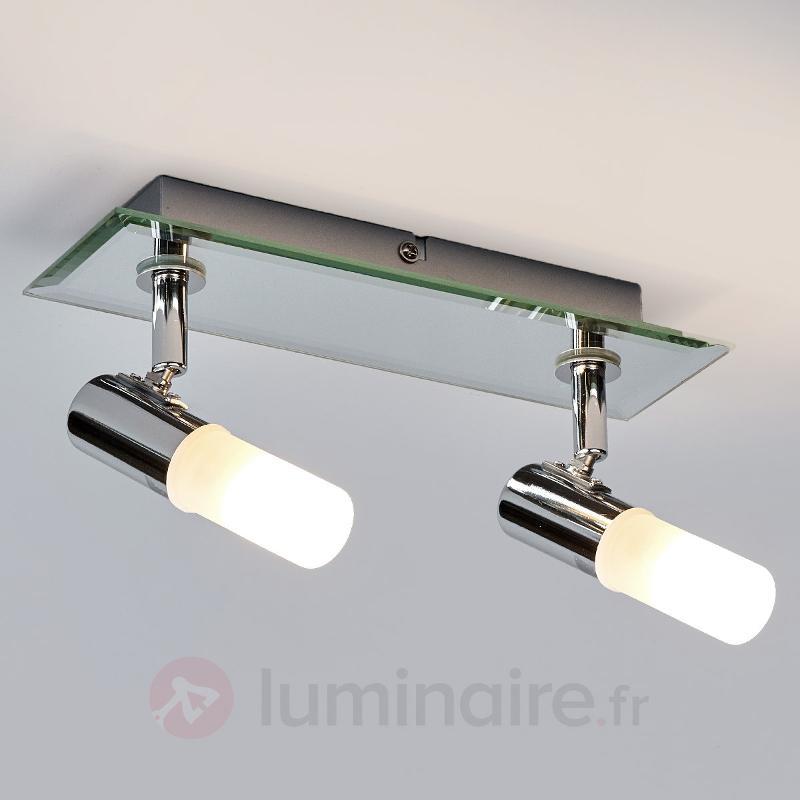 Plafonnier pour salle de bains Jilian à 2 lampes - Salle de bains