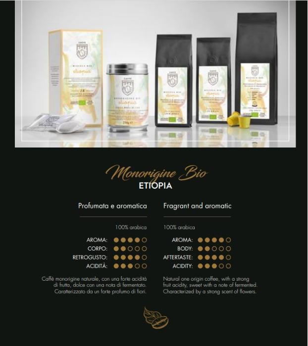 BIO ETIOPIA - Caffè biologico 100% Arabica, alta quality, produzione artigianale