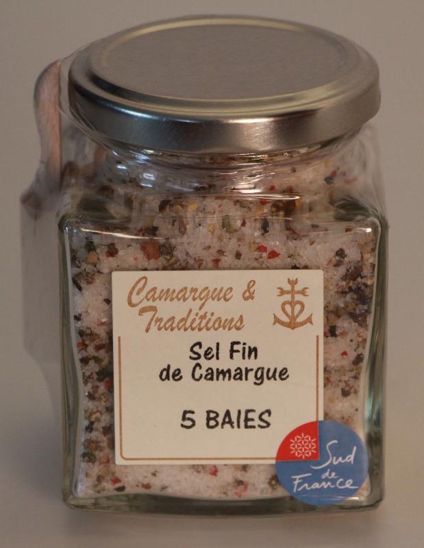 POT CARRE ET SA PELLE A SEL - SEL FIN DE CAMARGUE - 5 BAIES - Epicerie salée