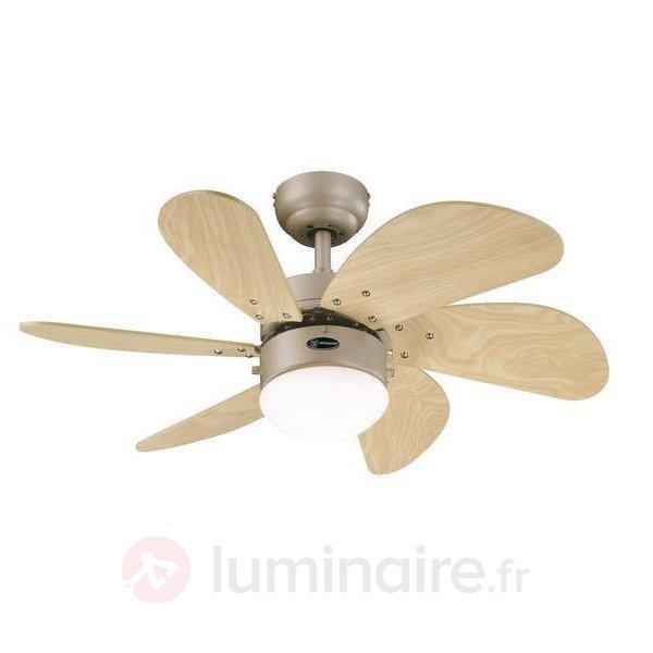 Ventilateur de plafond Turbo Swirl - Ventilateurs de plafond lumineux