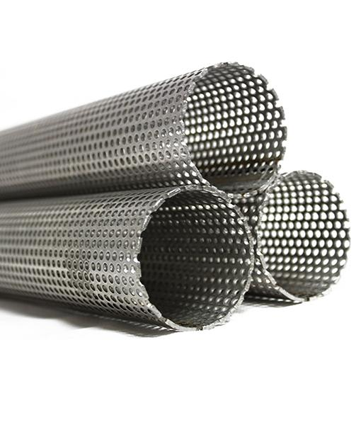 Stainless Steel Exhaust Tube - Perforated - Continuously Perforated Stainless Steel Exhaust Tube