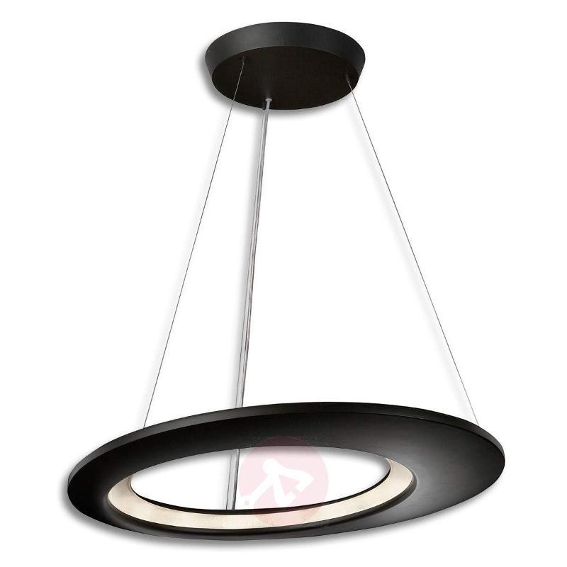 LED designer hanging light Ecliptic in black 65 cm - Pendant Lighting