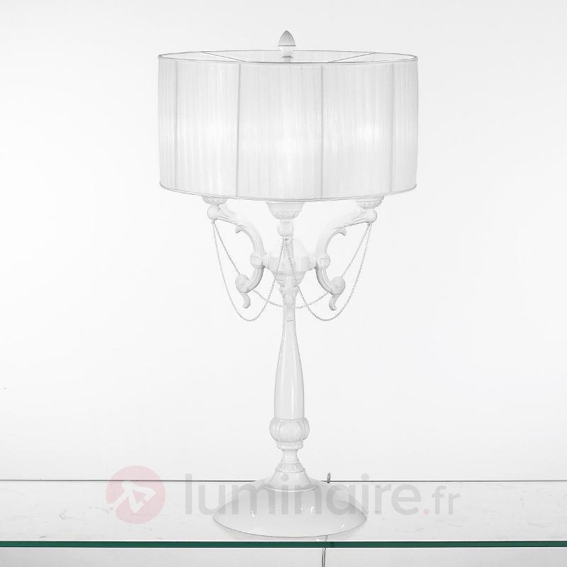 Petit lampadaire BIANCA fabriqué à la main 74 cm - Lampadaires en tissu