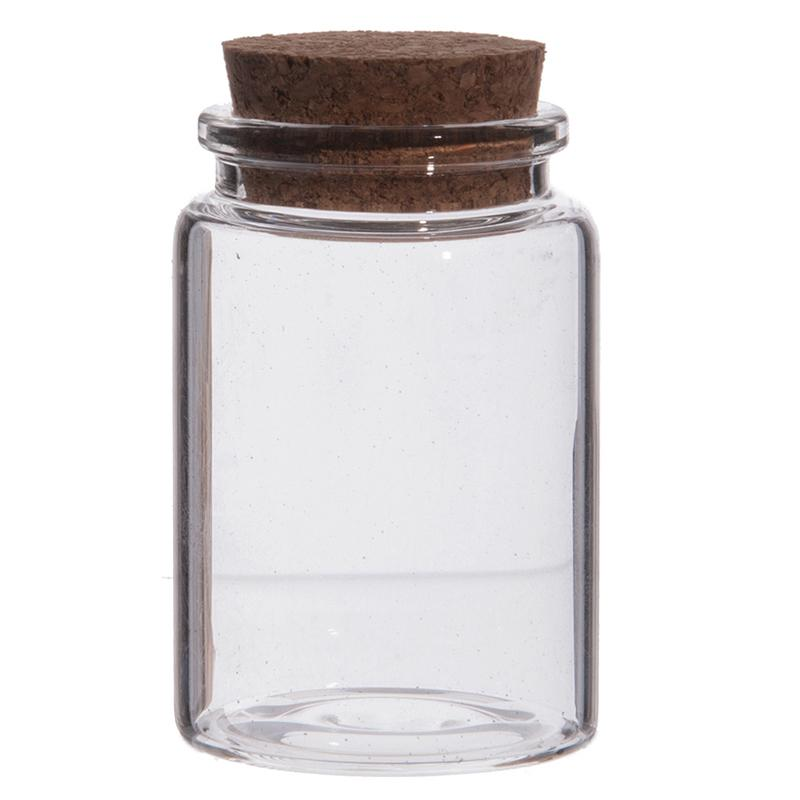 Jar in glass with cork - Little jar in glass with cork gift item