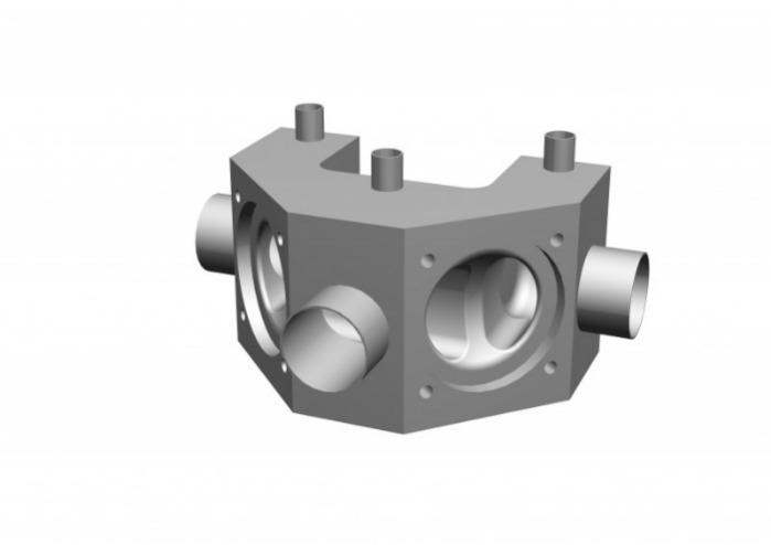 SISTO-CM508 Multi-Port Valve, forged body, PN16 - Multi-Port Valve,1.4435, butt welded/Clamp, enclosed diaphragm spirale supported