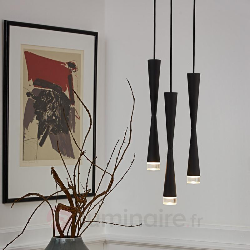 Loong, une suspension LED noire - Suspensions LED