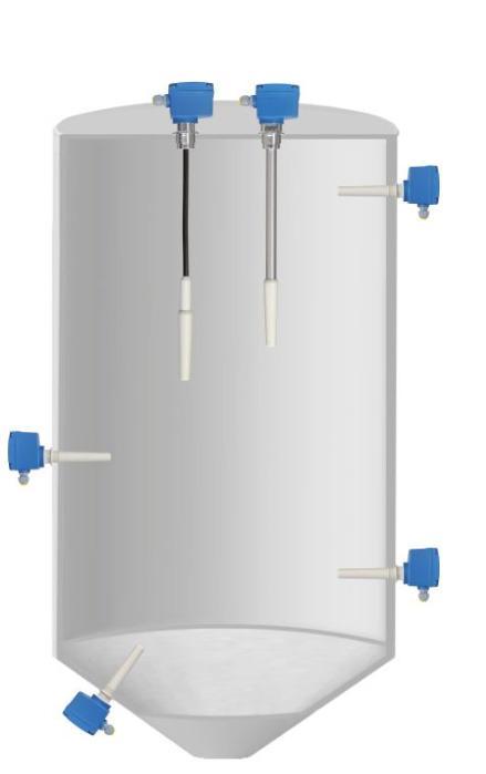 Capanivo® CN 4000 - Interruptor de nivel capacitivo  - Detector de nivel lleno, intermedio o vacío