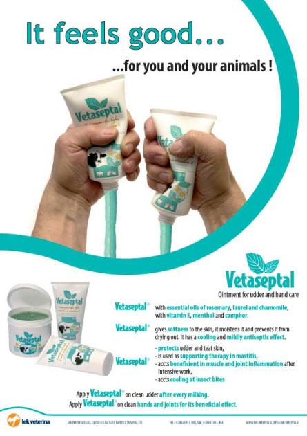 Vetaseptal - Ointment for supporting udder health in cows