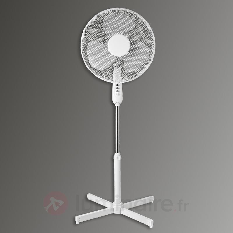 Ventilateur sur pied Stratos, blanc - Ventilateurs à poser ou sur pied
