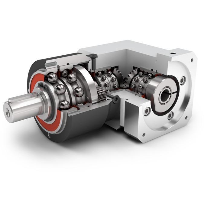 Winkelplanetengetriebe WPLPE - Economy Getriebe mit Abtriebswelle - Geradverzahnt - Kegelradwinkelstufe