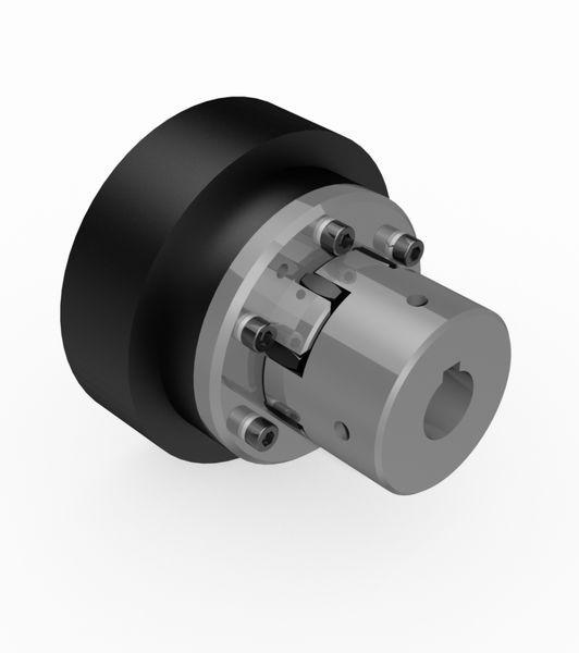 Centrifugal clutch with elastic clutch - Centrifugal clutch with elastic clutch