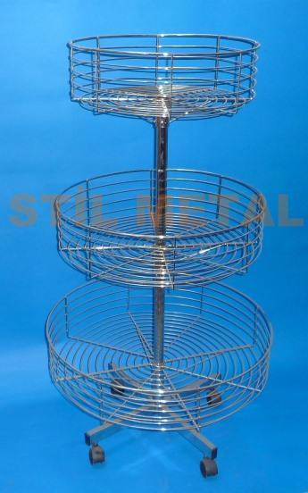 Triple Display Wire Storage Rack - Revolving