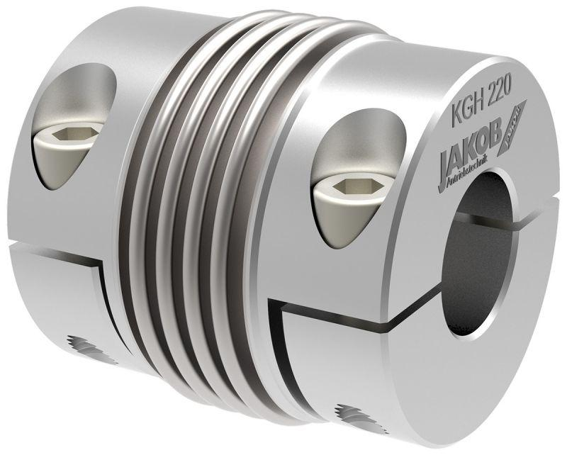 Metal bellows coupling KGH - simple installation - splitted hub design on both sides