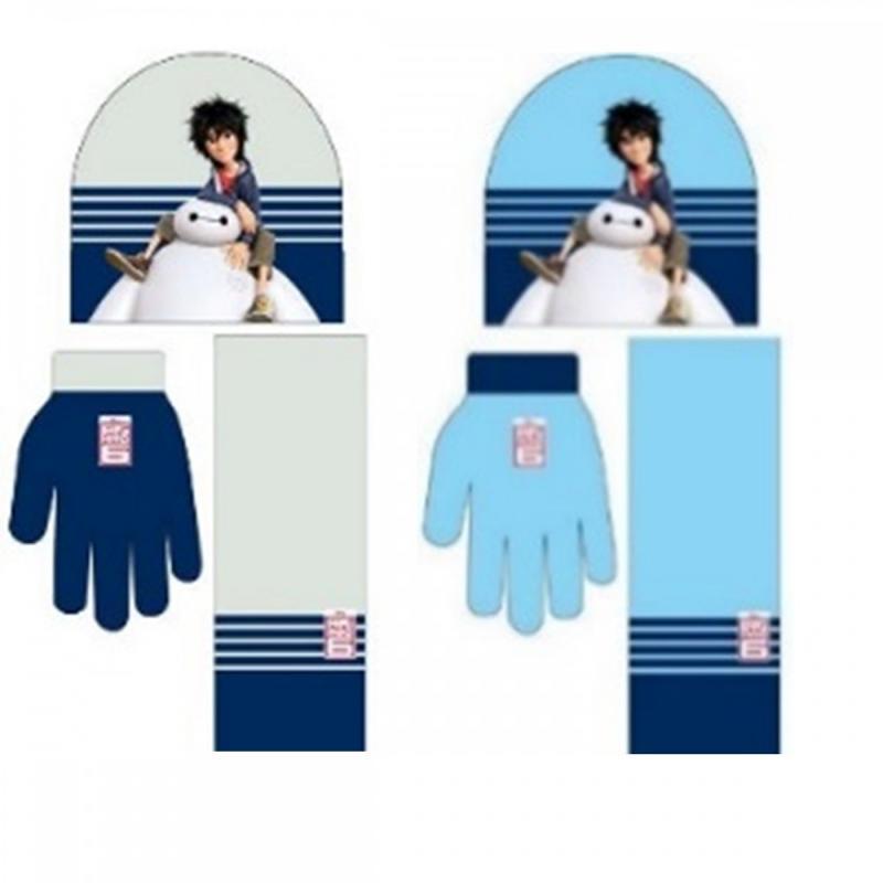 4x Echarpes et bonnets et gants Big hero 6 - Bonnet Gant Echarpe
