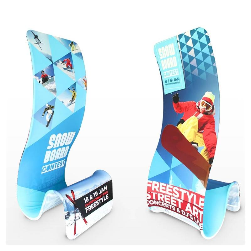 Totem tissu - Pop up et stand publicitaire