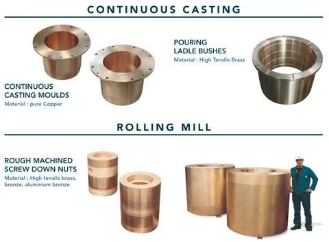 Components for steel works industry - centrifugal castings for continuous castings process & rolling mills