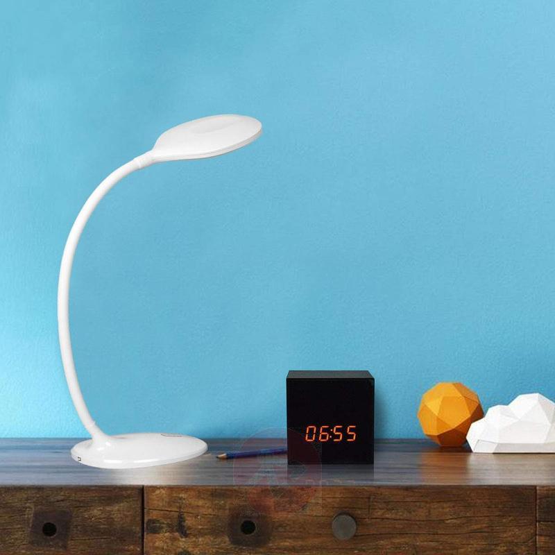 White LED desk lamp Aijana, dimmable - Desk Lamps