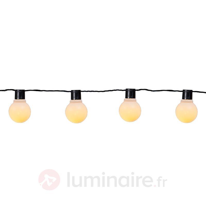 Guirl. lumin. de 500 cm de long Partaj à 16 lampes - Guirlandes lumineuses LED d'extérieur