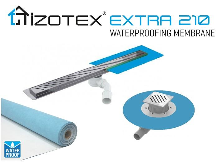 IZOTEX EXTRA 210 - Waterproof Sealing Cuff for Shower Drains and Channels