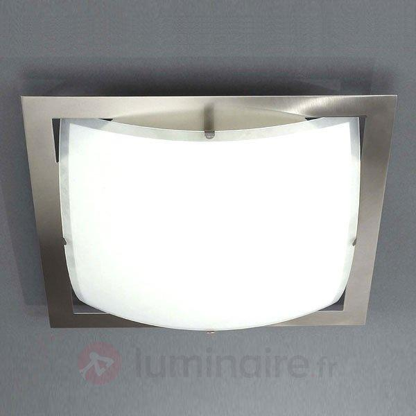 Plafonnier moderne QUADROS - Plafonniers chromés/nickel/inox