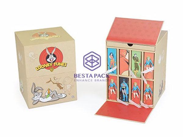 Boîte d'abonnement aux pièces - Double couvercle à charnière, 8 boîtes à livres et 1 plateau coulissant