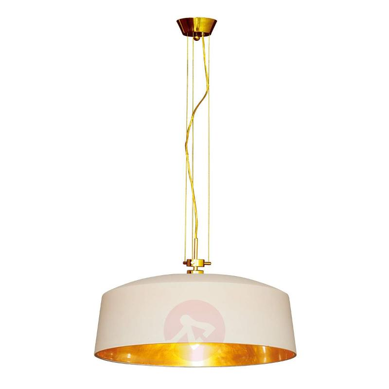 Decorative hanging light Auro with gold leaf - Pendant Lighting