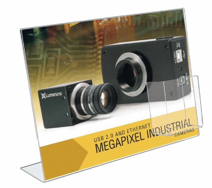 Leaflet Holders - Porte Brochure Plexi Type L avec pochette