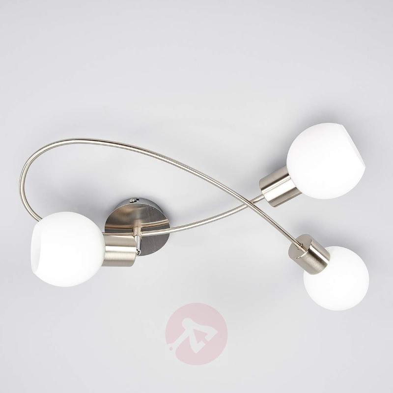 LED ceiling light Elaina, 3-bulb nickel matte - Ceiling Lights