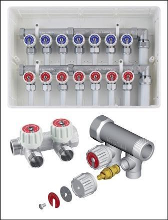 MANIFOLD FOR SANITARY AND HEATING SYSTEMS - COLLETTORI PER IMPIANTI SANITARI E DI RISCALDAMENTO